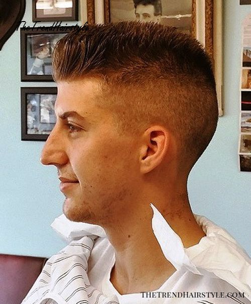 short flat top haircut with faded sides