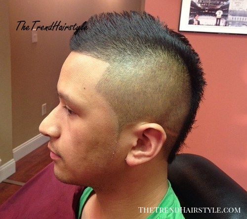 short mohawk with high fade
