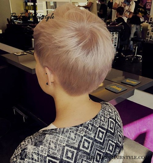 short pastel blonde pixie