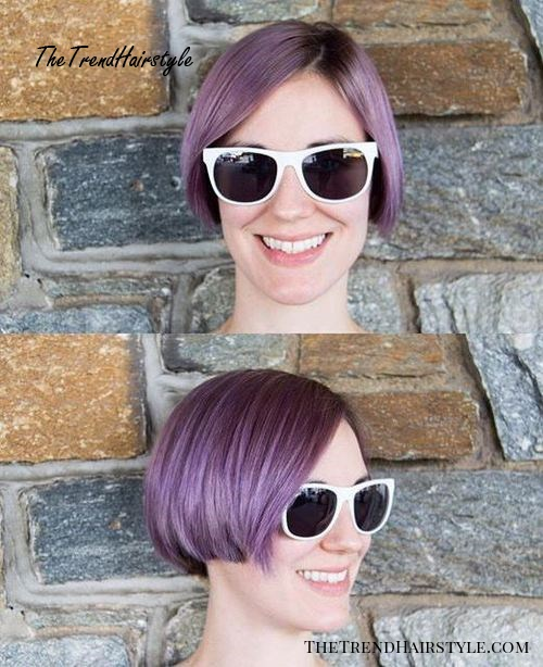 short pastel purple bob