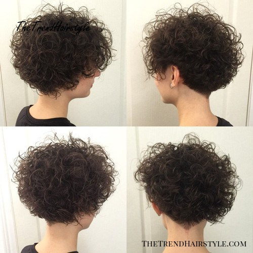 short permed hairstyle