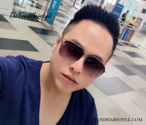short sides hairstyle for Asian men