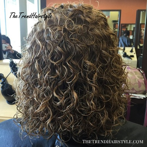 shoulder length perm hair