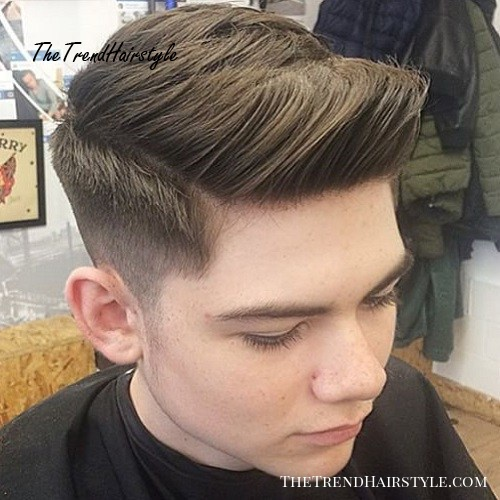 side part for thick hair