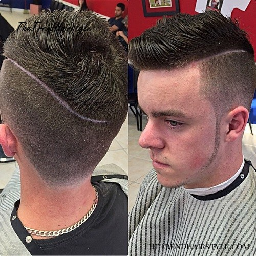 side part hairstyle with long top for men