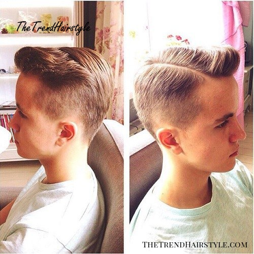 side parted quiff hairstyle