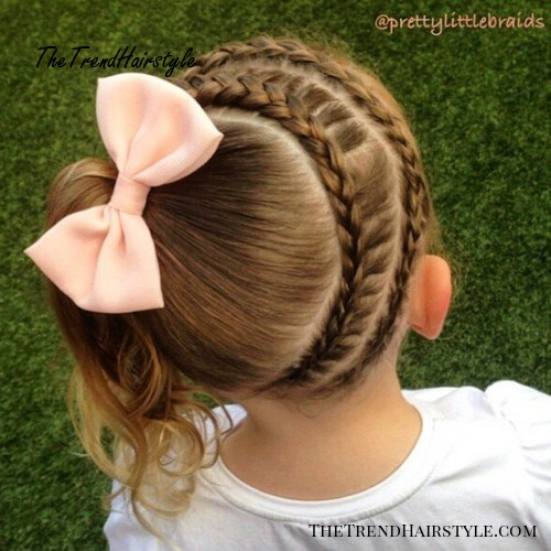 side pony with braids back to school hairstyle