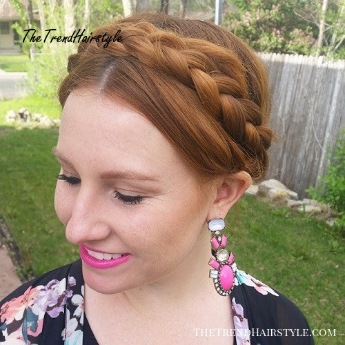 simple milkmaid braid updo