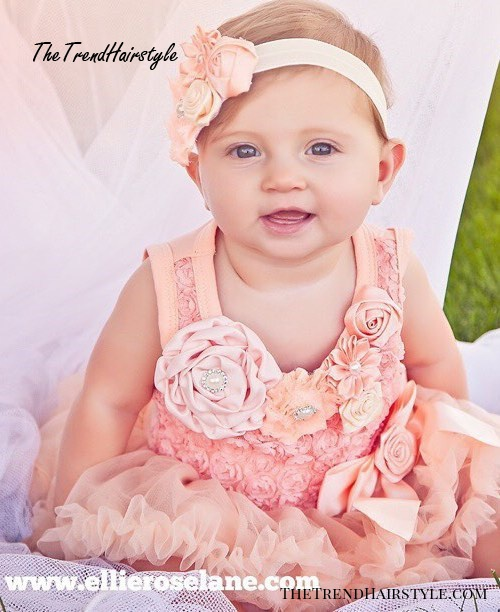 simple toddler hairstyle with a headband