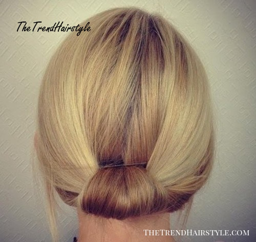 Short Messy Updo With Headband Braid 60 Gorgeous Updos For Short Hair That Look Totally Stunning The Trending Hairstyle