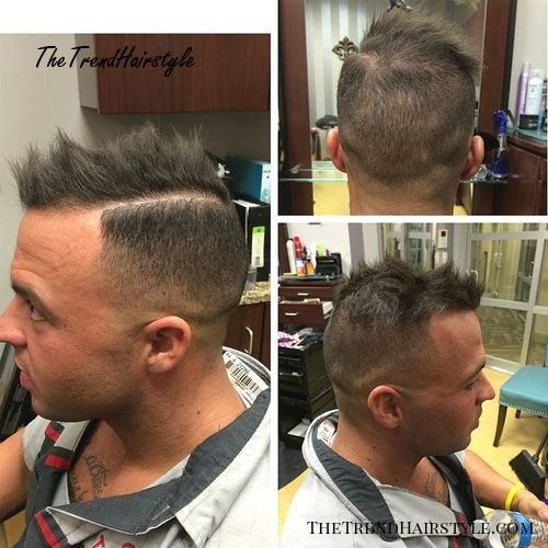 spiky Mohawk for men with thinning hair