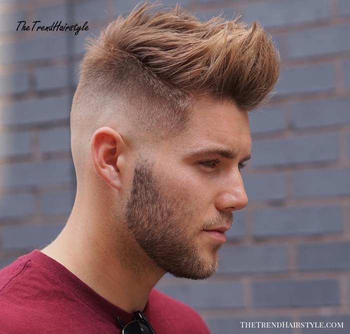 spiky men's hairstyle