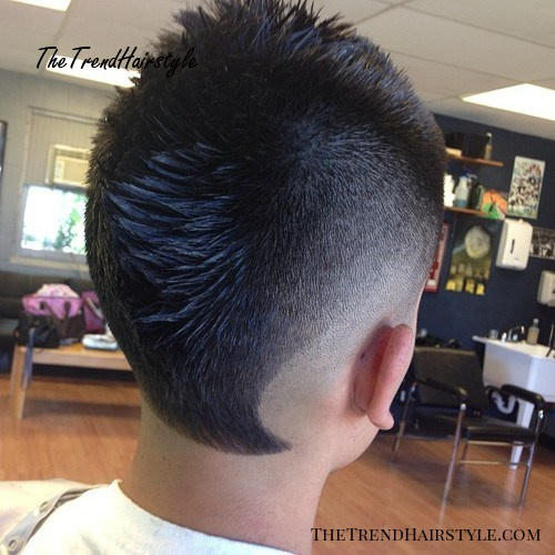 spiky top fade mohawk for guys