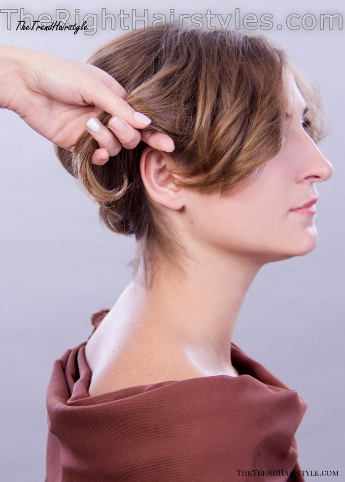 updo for short hair step-by-step instructions