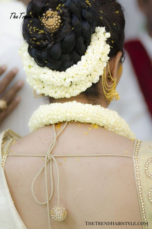 updo hairstyle for Indian wedding