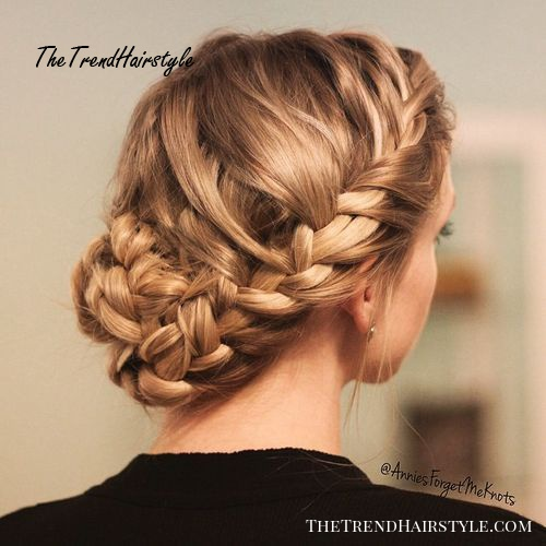 updo with a crown braid and braided bun