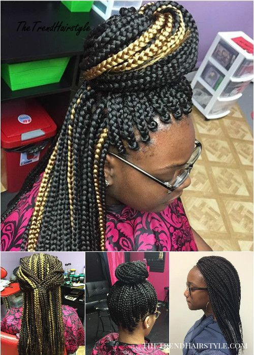 Massive Wrap Around Box Braids Bun 50 Exquisite Box Braids Hairstyles That Really Impress The Trending Hairstyle
