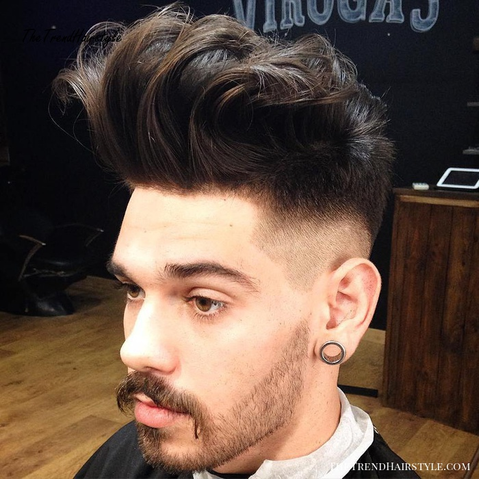 upswept quiff hairstyle