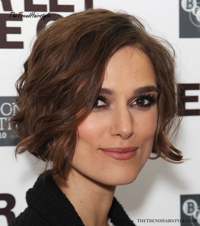 wavy bob hairstyle for square face