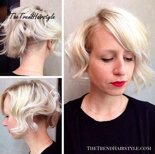 wavy bob with nape undercut