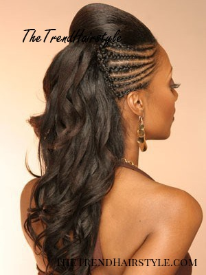 wedding hairstyle with tree braids